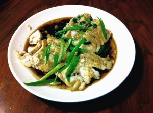 Steamed Ling Cod
